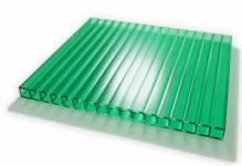 Зеленый сотовый поликарбонат 4 мм