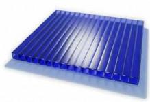Синий сотовый поликарбонат 4 мм